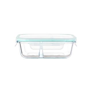 Kenna耐热玻璃系列分隔保鲜盒-长方形(500ml)