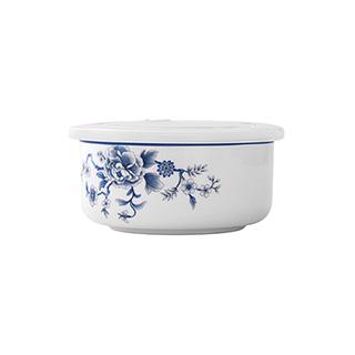Joyce凤鸾青花骨瓷保鲜碗(5英寸)
