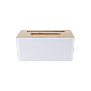 Nigel楠竹系列创意纸巾盒-手机架款