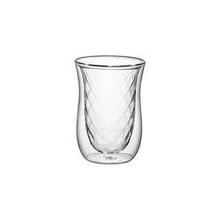 Glenn双层防烫玻璃杯-钻纹款(250ml)