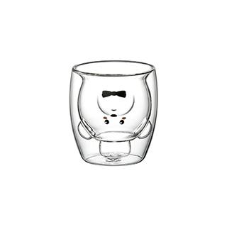 Glenn双层防烫玻璃杯-小熊款(250ml)