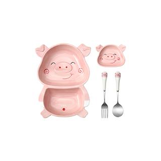 Lovey萌系小猪餐具四件组-B款