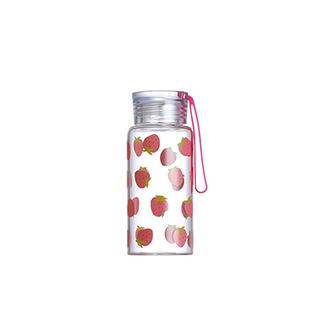 Ester高硼硅玻璃便携水壶-草莓(280ml)