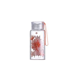 Ester高硼硅玻璃便携水壶-银莲花(280ml)