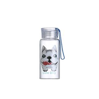 Ester高硼硅玻璃便携水壶-大眼狗(280ml)