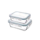 Octans耐热玻璃系列保鲜盒两件组-长方形