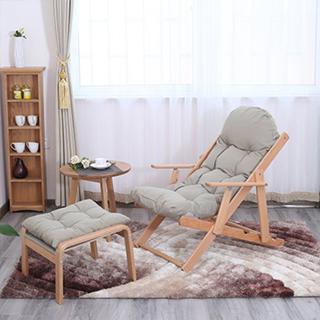 Hayes实木系列可可沙发椅(带脚踏)
