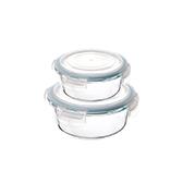 Octans耐热玻璃系列保鲜盒两件组-圆形
