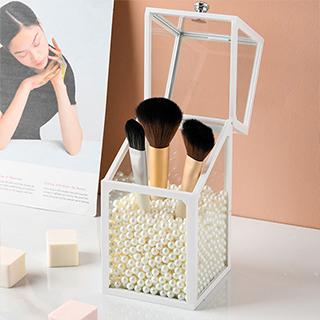 化妆刷收纳盒(含珍珠)