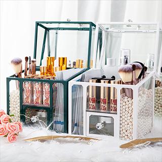 化妆品小物收纳盒(含珍珠)