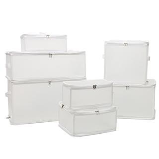 磨砂PP收纳盒七件套