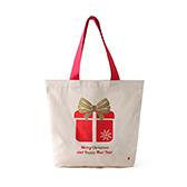 Lottie棉麻系列圣诞环保袋-节日礼物