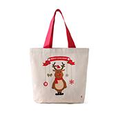 Lottie棉麻系列圣诞环保袋-麋鹿精灵