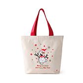 Lottie棉麻系列圣诞环保袋-欢乐雪人