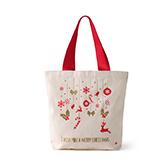 Lottie棉麻系列圣诞环保袋-圣诞礼物