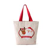Lottie棉麻系列圣诞环保袋-圣诞老人