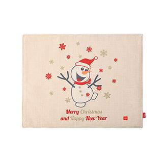 Christmas圣诞系列加厚餐垫-欢乐雪人