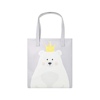 Lovey萌系简约手拎袋-皇冠熊