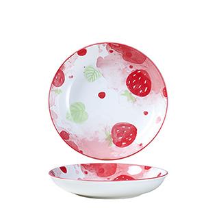 8英寸可爱草莓深盘