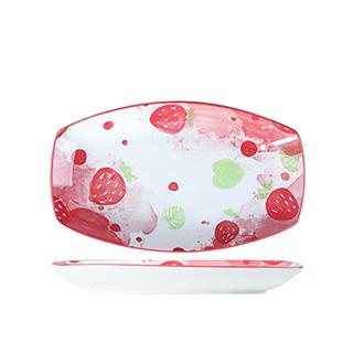 12英寸可爱草莓鱼盘