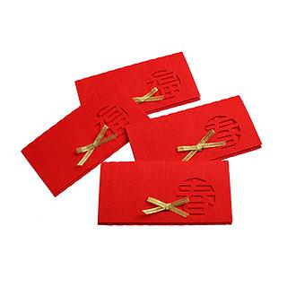 ABS高级无纺布环保红包4片装