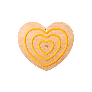 Joris榉木系列创意防滑锅垫(爱心款)