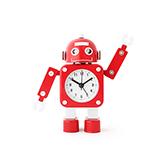 Alma童趣系列金属变形机器人闹钟-A款