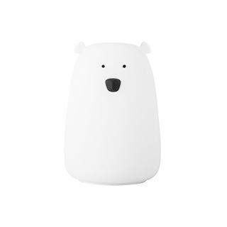 Meroy萌系卡通硅胶声控灯-大白熊
