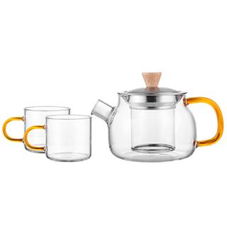 Randell耐热玻璃茶具套装(3件组)