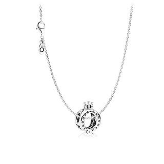 丹麦PANDORA·潘多拉典雅皇冠925银锁骨链-ZT0131