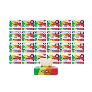 pure天然竹浆纤维软抽面巾纸(3包/提)-整箱装(24提)
