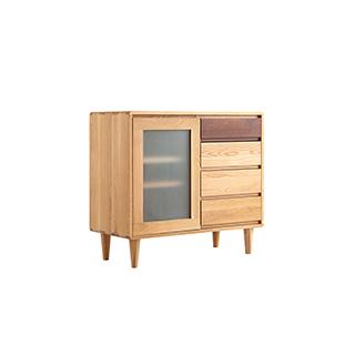 Wade天然白橡木系列简约储物小边柜