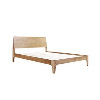 Wade天然白橡木系列简约双人床(1.5米)