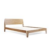 Wade天然白橡木系列简约双人床(1.8米)