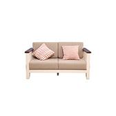 Wade白橡木系列拼色复古双人沙发