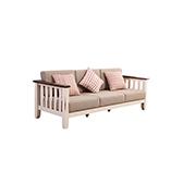 Wade白橡木系列拼色复古三人沙发