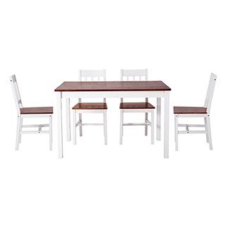 Regan松木系列实木桌椅套组(1桌4椅)