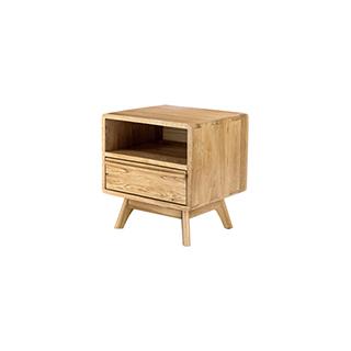 Wade白橡木系列实木床头柜-经典款