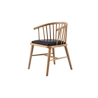 Wade白橡木系列实木休闲椅-简约款