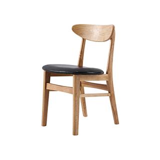 Wade白橡木系列实木软包餐椅-简约款
