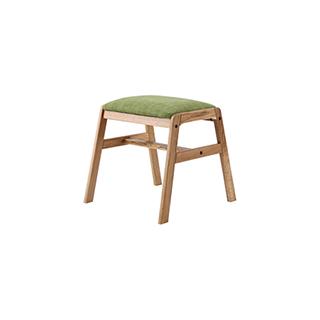 Wade白橡木系列实木软包休闲凳