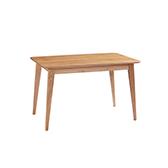 Swiss北欧风白橡木餐桌-扁腿(1.3m)